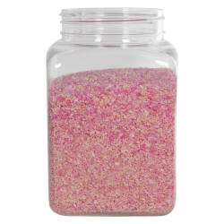 67 oz. Clear PET Square Jar with 110mm Neck (Caps Sold Separately)