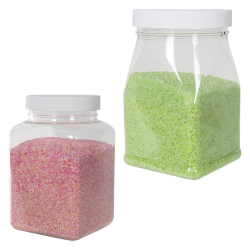 PET Square Jars with Caps