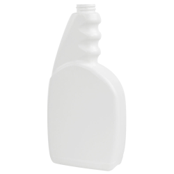 23 oz. White Trigger Spray Bottle with 28/400 Neck (Sprayer Sold Separately)