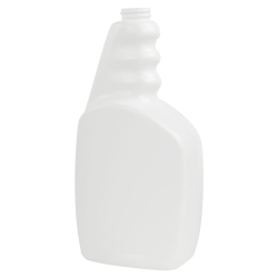33 oz. White HDPE Trigger Spray Bottle with 28/400 Neck (Sprayer Sold Separately)