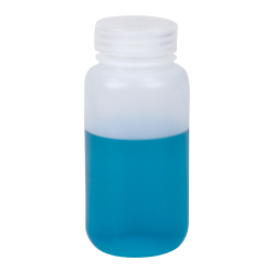 8 oz./250mL Nalgene™ Wide Mouth Economy HDPE Bottle with 43mm Cap
