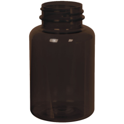 175cc Dark Amber PET Packer Bottle with 38/400 Neck (Cap Sold Separately)