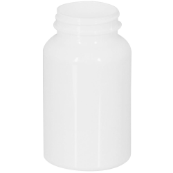 225cc White PET Packer Bottle with 45/400 Neck (Cap Sold Separately)
