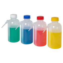 Unitary Wash Bottles with Color-Coded Caps