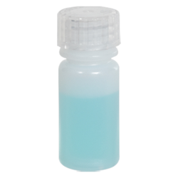 1/8 oz./4mL Nalgene™ Lab Quality Narrow Mouth HDPE Bottle with 13mm Cap