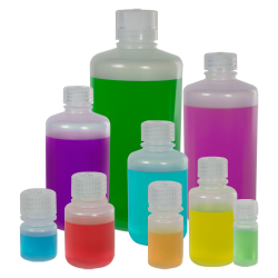 8 oz./250mL Nalgene™ Narrow Mouth Polypropylene Bottles with 24mm Caps - Case of 72