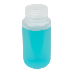 8 oz./250mL Lab Quality Wide Mouth Polypropylene Bottle with 43mm Cap