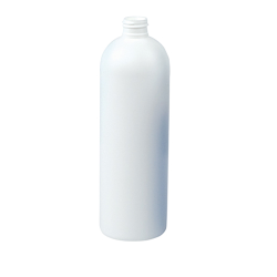 2 oz. HDPE White Cosmo Bottle 20/410 Neck  (Cap Sold Separately)