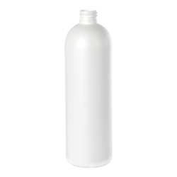 16 oz. HDPE White Cosmo Bottle 24/410 Neck  (Cap Sold Separately)