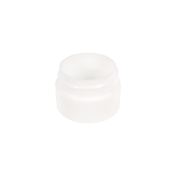 1/8 oz. Polypropylene Straight Sided Thick Walled White Jar with 33/400 Neck (Cap Sold Separately)