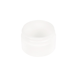 1/2 oz. Polypropylene Straight Sided Thick Walled White Jar with 43/400 Neck (Cap Sold Separately)