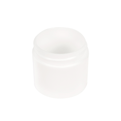 1 oz. Polypropylene Straight Sided Thick Walled White Jar with 43/400 Neck (Cap Sold Separately)