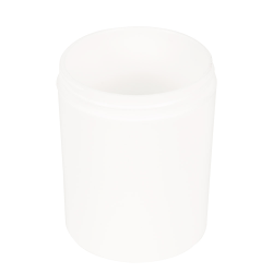 8 oz. Polypropylene Straight Sided Thick Walled White Jar with 70/400 Neck (Cap Sold Separately)