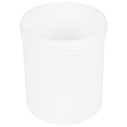 16 oz. Polypropylene Straight Sided Thick Walled White Jar with 89/400 Neck (Cap Sold Separately)