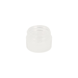 1/8 oz. Polypropylene Straight Sided Thick Walled Natural Jar with 33/400 Neck (Cap Sold Separately)