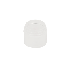 1/4 oz. Polypropylene Straight Sided Thick Walled Natural Jar with 33/400 Neck (Cap Sold Separately)