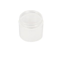 1 oz. Polypropylene Straight Sided Thick Walled Natural Jar with 43/400 Neck (Cap Sold Separately)