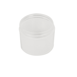2 oz. Polypropylene Straight Sided Thick Walled Natural Jar with 58/400 Neck (Cap Sold Separately)