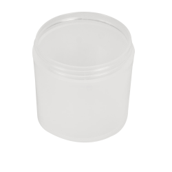 6 oz. Polypropylene Straight Sided Thick Walled Natural Jar with 70/400 Neck (Cap Sold Separately)