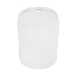 8 oz. Polypropylene Straight Sided Thick Walled Natural Jar with 70/400 Neck (Cap Sold Separately)
