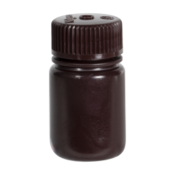 1 oz./30mL Nalgene™ Amber Wide Mouth Economy Bottle with 28mm Cap