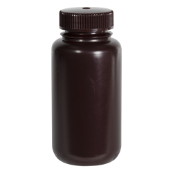 8 oz./250mL Nalgene™ Amber Wide Mouth Economy Bottle with 43mm Cap