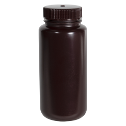 16 oz./500mL Nalgene™ Amber Wide Mouth Economy Bottle with 53mm Cap