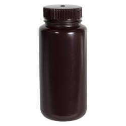 16 oz./500mL Nalgene™ Amber Wide Mouth Economy Bottle with 53mm Cap