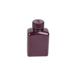 4 oz./125mL Nalgene™ Amber Rectangular Bottle with 28mm Cap