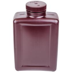 64 oz./2000mL Nalgene™ Amber Rectangular Bottle