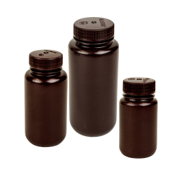 Thermo Scientific™ Nalgene™ Lab Quality Amber HDPE Wide Mouth Bottles with Caps