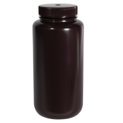 32 oz./1000mL Nalgene™ Amber Wide Mouth Economy Bottle with 63mm Cap