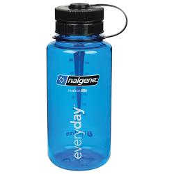 32 oz. Wide Mouth Blue Bottle with Black Pillid