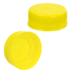 38mm Yellow ISS LDPE Tamper Evident Screw Cap