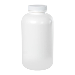 32 oz./950cc White Wide Mouth Packer with 53/400 Plain Cap