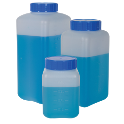 Graduated Rectangular Bottles with Caps