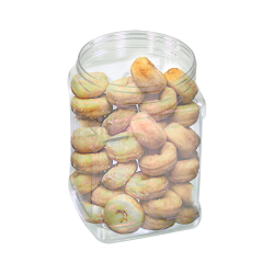 64 oz. Clear PET Pinch Grip-It Jars with 120mm Neck (Cap Sold Separately)