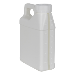 16 oz. White F-Style Jug with Window Strip & 33/400 CRC Cap with F217 Liner