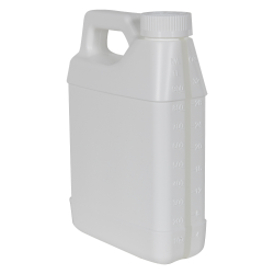 32 oz. White F-Style Jug with Window Strip & 33/400 CRC Cap with F217 Liner