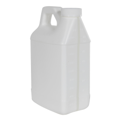 64 oz. White F-Style Jug with Window Strip & 38/400 CRC Cap with F217 Liner