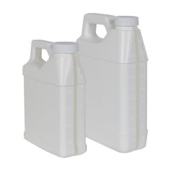 F-Style Jugs with Window Strips & Plain Caps