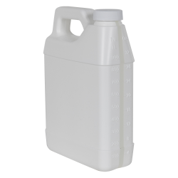 32 oz. White F-Style Jug with Window Strip & 33/400 Plain Cap with F217 Liner