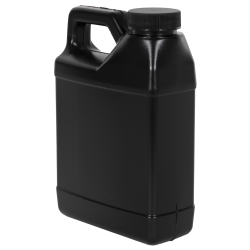 16 oz. Black F-Style Jug with 33/400 Plain Cap
