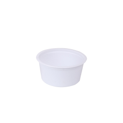 4 oz. White Polyethylene Container (Lid Sold Separately)