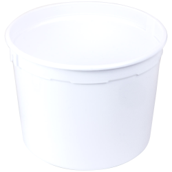 5 qt. White Polyethylene Container (Lid Sold Separately)