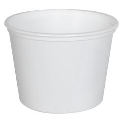 20 oz. White Polypropylene Z-Line Round Container