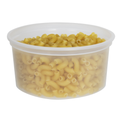 12 oz. Natural Polypropylene Z-Line Round Container