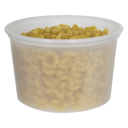 16 oz. Natural Polypropylene Z-Line Freezer Grade Round Container
