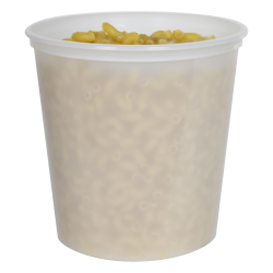24 oz. Natural Polypropylene Z-Line Freezer Grade Round Container
