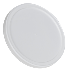 White LLDPE Round Flat Lid
